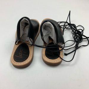 Latigo Shoes - Latigo Black Vin Leather Lace Up Sandal